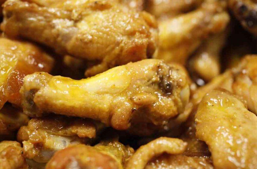 Alitas de pollo con COVID-19